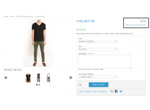 Frontend view Product view Simple Price