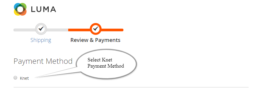 Select Knet Payment Option